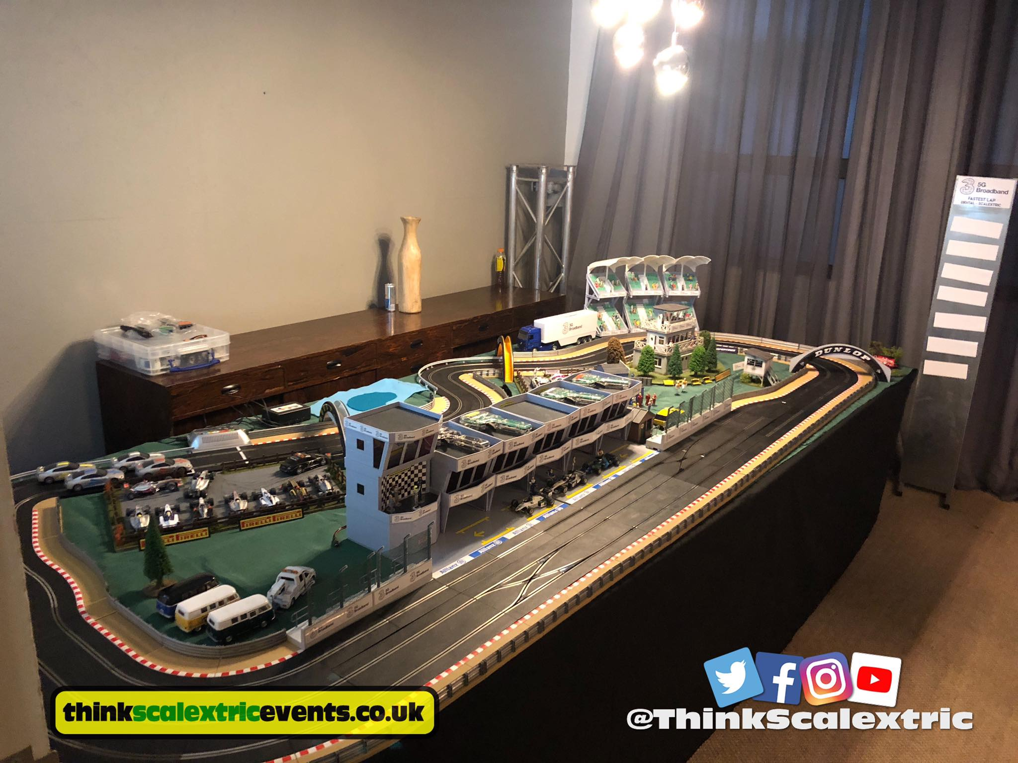 Scalextric at The Hoxton London for Three 5G Broadband